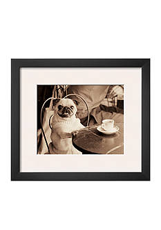 Art.com Cafe Pug, Framed Art Print - Online Only