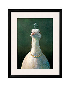Art.com Fowl with Pearls by Michael Sowa, Framed Art Print