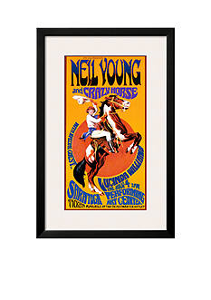 Art.com Neil Young and Crazy Horse in Concert, Framed Art Print - Online Only