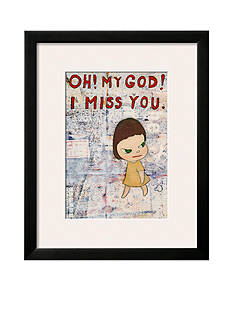 Art.com Oh! My God! I Miss You! c.2001 by Yoshitomo Nara, Framed Art Print