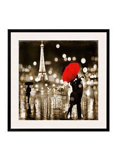Art.com A Paris Kiss by Kate Carrigan, Framed Art Print