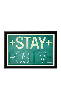 Art.com Stay Positive, Framed Poster