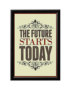 Art.com The Future Starts Today Framed Poster