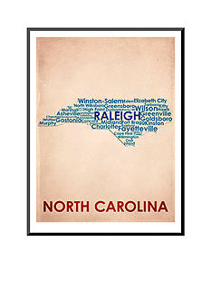 Art.com North Carolina Mounted Print Wood