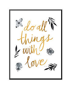 Art.com Do All Things with Love Mounted Print Wood