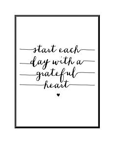 Art.com Start Each Day With A Grateful Heart by Brett Wilson, Mounted Print Wood
