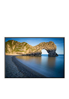 Art.com Evening at Durdle Door Along the Jurassic Coast, Dorset, England Mounted Photo Wood