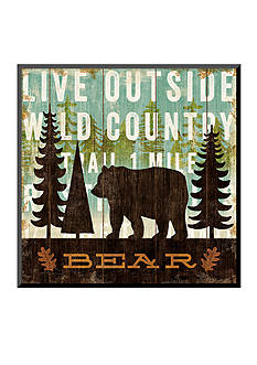 Art.com Simple Living Bear Mounted Print Wood