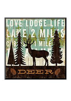 Art.com Simple Living Deer by Michael Mullan, Mounted Print Wood