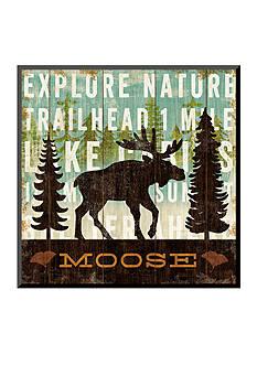 Art.com Simple Living Moose by Michael Mullan, Mounted Print