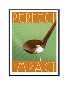 Art.com Tee it Up, Mounted Print Wood