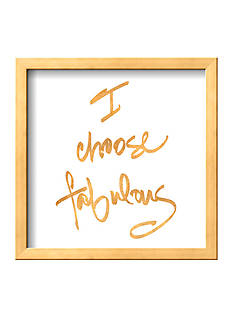 Art.com Choose Fabulous (gold foil), Framed Art Print