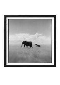 Art.com Elephant Herd, Masai Mara Game Reserve, Kenya by Paul Souders, Framed Photographic Print