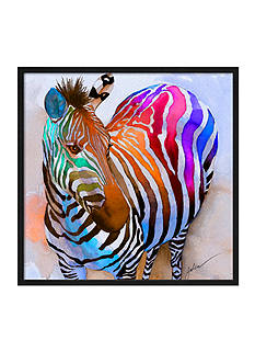 Art.com Zebra Dreams by Galen Hazelhofer, Framed Giclee Print
