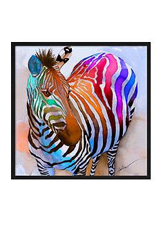 Art.com Zebra Dreams by Galen Hazelhofer, Framed Giclee Print