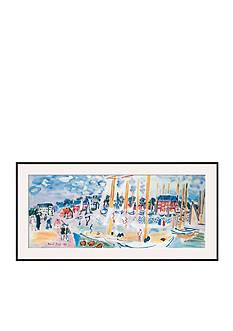Art.com Dimanche a Deauvilie by Raoul Dufy, Framed Art Print
