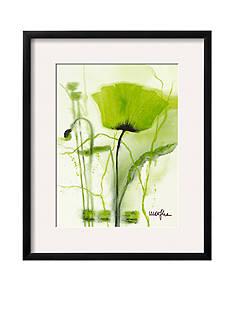 Art.com Coquelicot Vert II by Marthe, Framed Art Print