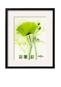 Art.com Coquelicot Vert I by Marthe, Framed Art Print