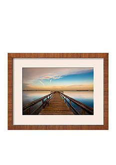Art.com Sunrise on the Pier at Terre Ceia Bay, Florida, USA by Richard Duval, Framed Photographic Print