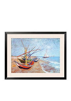 Art.com Fishing Boats on the Beach at Saints-Marie - Online Only