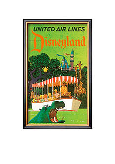 Art.com United Airlines: Disneyland in Anaheim, Cali, Framed Art Print Online Only