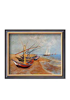 Art.com Fishing Boats on the Beach at Saint Marie - Online Only