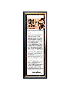 Art.com What It Takes To Be Number One Framed - Online Only