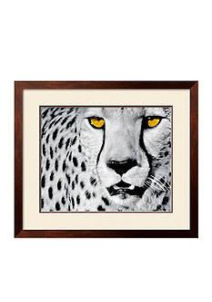 Art.com White Cheetah by Rocco Sette, Framed Art