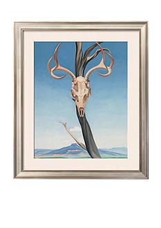 Art.com Deer's Skull with Pedernal by Georgia O'Keeffe, Framed Art Print