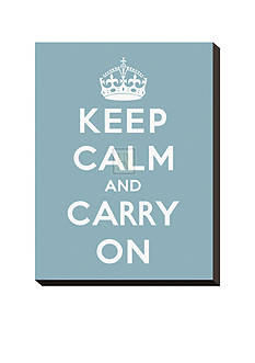 Art.com Keep Calm and Carry on Stretched Canvas Print Online Only