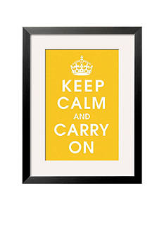 Art.com Keep Calm (Mustard) Framed Art Print