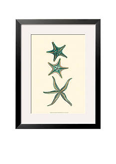 Art.com Aquamarine Starfish I, Framed Art Print