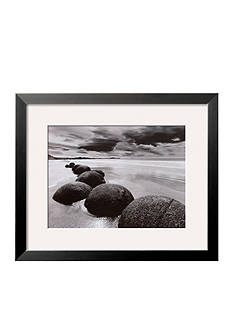 Art.com Boulders on the Beach Framed Art Print