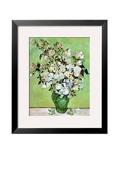 Art.com A Vase of Roses, c.1890 Framed Art Print