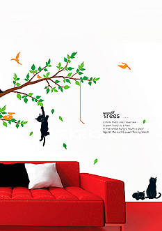 Art.com Kitten Poem Tree, Wall Decal, - Online Only