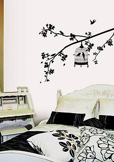 Art.com Parisian Spring Bird in Tree Silhouette Wall Decal