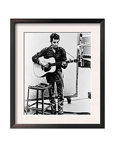 Art.com Bob Dylan Playing Guitar And Harmonica Into Microphone. 1965 Framed Art Print