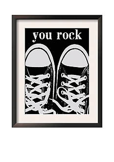 Art.com You Rock Black Sneakers by Lisa Weedn, Framed Art Print