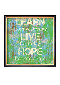 Art.com Learn Live Hope Framed Art Print