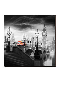 Art.com London Bus III, Stretched Canvas Print