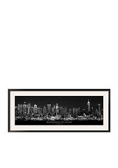 Art.com Manhattan at Night, New York City, Framed Art Print - Online Only