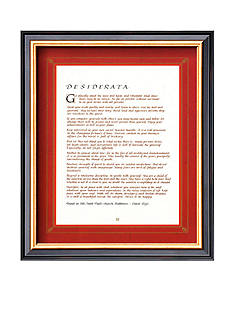Art.com Desiderata Framed Art Print - Online Only