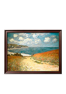 Art.com Path Through the Corn at Pourville, c.1882, Framed Art Print - Online Only