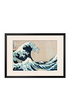 Art.com The Great Wave of Kanagawa, from the Series '36 Views of Mt. Fuji' ('Fugaku Sanjuokkei') Framed Giclee Print