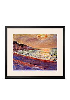 Art.com Beach at Pourville, Sunset, 1882 Framed Giclee Print - Online Only
