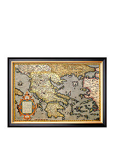 Art.com Map of Greece, Framed Art Print - Online Only