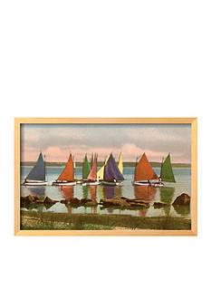 Art.com Rainbow Fleet, Nantucket, Massachusetts, Framed Giclee Print