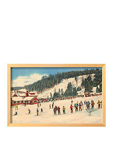 Art.com Skiing at Big Bromley, Manchester, Vermont Framed Giclee Print - Online Only