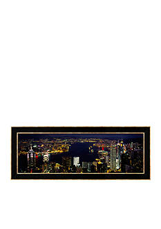 Art.com Buildings Illuminated at Night, Hong Kong Framed Photographic Print - Online Only