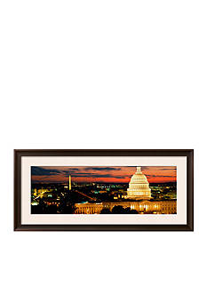 Art.com City Lit up at Dusk, Washington D.C., Usa Framed Photographic Print Online Only